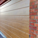 We cant always guarantee to match the lines on the door with the brickwork on these Hormann Doors in Ashbourne.